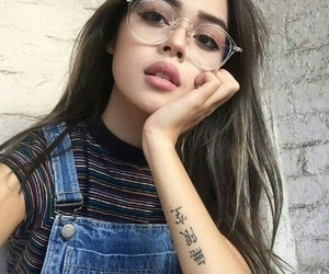 girl, glasses, and tattoo image