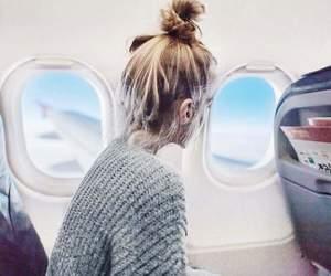 airplane, bun, and travel image