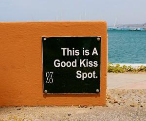 orange, beach, and kiss image