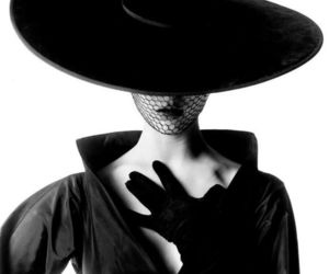 black and white and hat image