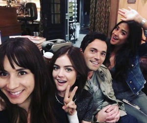 pretty little liars, lucy hale, and troian bellisario image