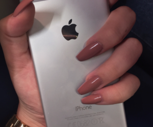 acrylics, iphone, and nails image
