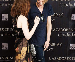 Jamie Campbell Bower, jamily, and lily collins image