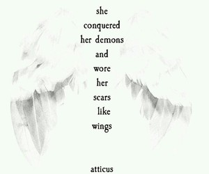 quotes, wings, and demons image