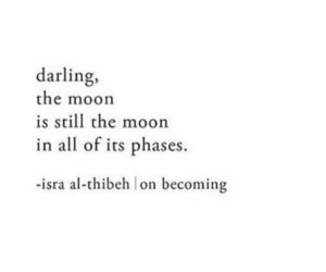 moon, phases, and quote image