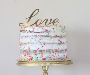 cake, sweet, and cakes image