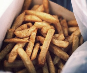 food, chips, and French Fries image