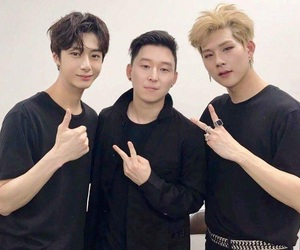 jooheon, monsta x, and hyungwon image