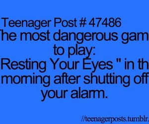 alarm, blue, and teenagers image