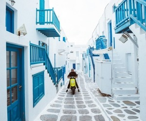 mykonos, summer, and vibes image