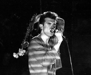 morrissey, the smiths, and black and white image