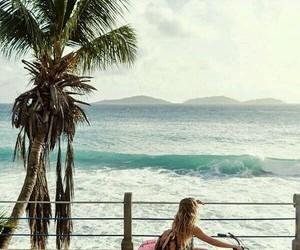 beach, playa, and fun image