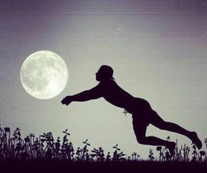volleyball, moon, and night image