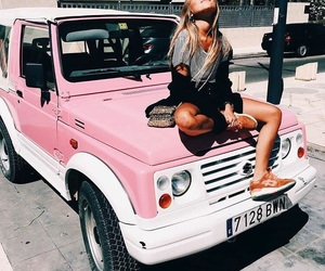 fashion, street, and pink image