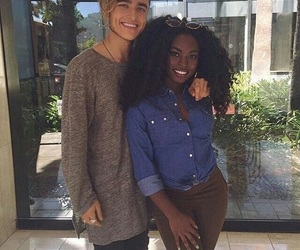 black, interracial, and couple image