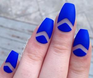 nail, blue, and fashion image