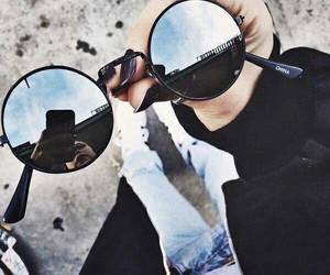 black and sunglasses image