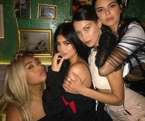 kylie jenner, bella hadid, and kendall jenner image