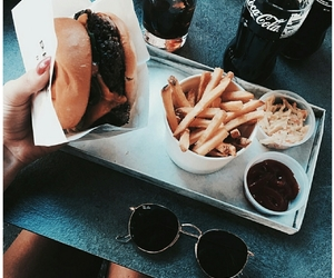 aesthetic, coca cola, and fries image