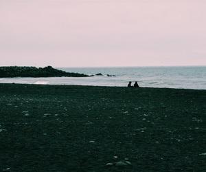 alone, beach, and dark image