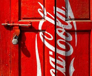 coca cola, colors, and door image