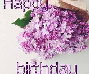 flower, pink, and happybirthday image
