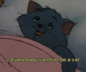 90's, cats, and quote image