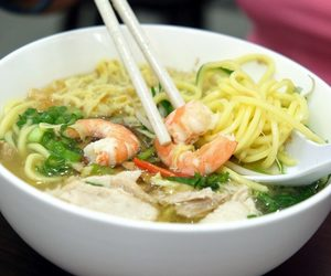 chinese food, shrimp, and soup image