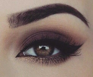 beauty, brown, and eyeshadow image