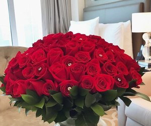 luxury, roses, and flowers image