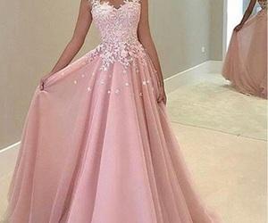 dress, pink, and graduation image