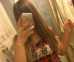 bangs, teen, and selfie image