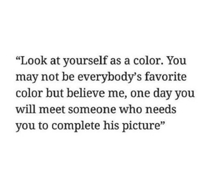 color, quote, and true image