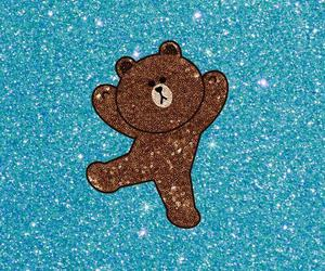 bear, glitter, and wallpapers image