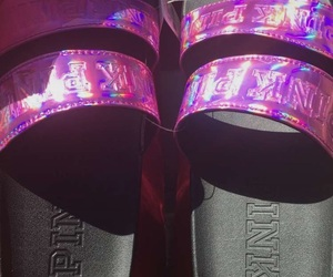 holographic, pink, and purple image