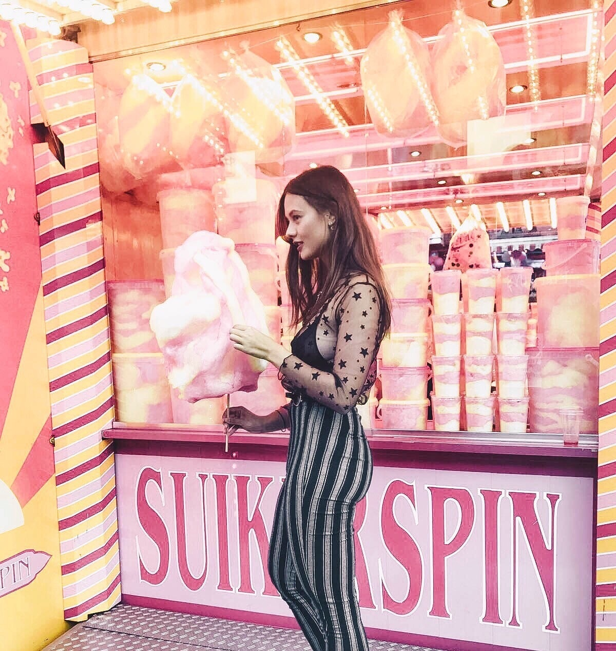 brunette, cotton candy, and dutch image
