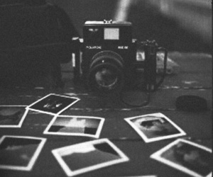 black and white, camera, and photos image