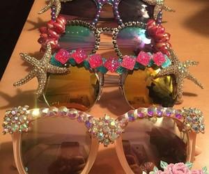 shell, starfish, and sunglasses image