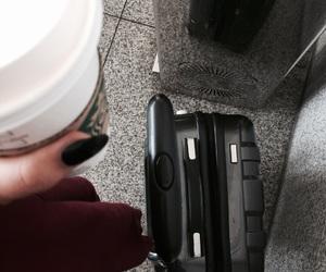 airport, black nails, and Malaga image