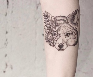 tattoo, animal, and fox image