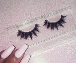 nails, eyelashes, and makeup image