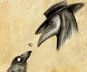 art, plague doctor, and cute image