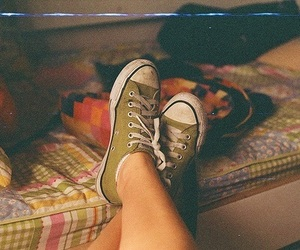 vintage, converse, and shoes image