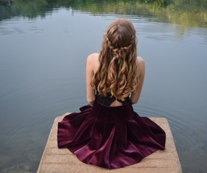 bridge, dress, and hairstyle image