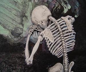skeleton, theme, and art image