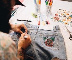art, diy, and pants image