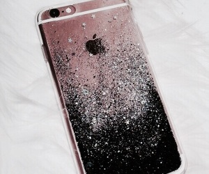 iphone, glitter, and case image