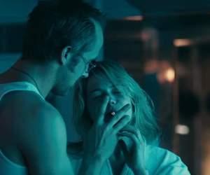 blue valentine, cigarette, and couple image