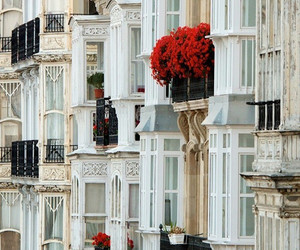 balconies, old, and rose image