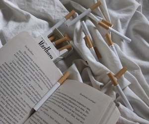 aesthetic, books, and cigarette image